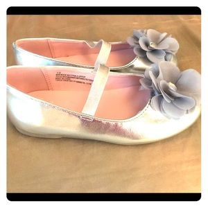 Nina toddler girls size 10 ballet flats flower gem